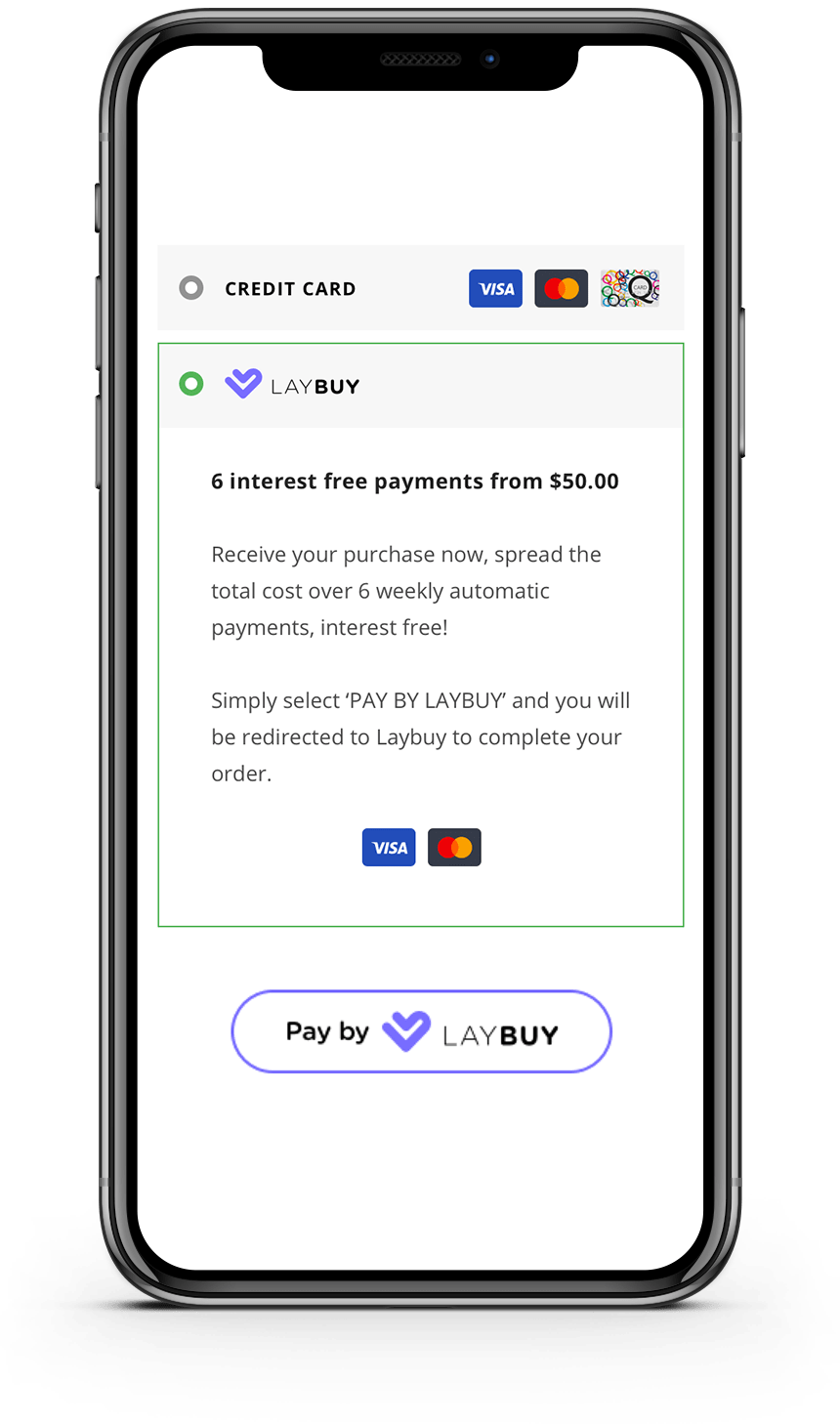 An example of Laybuy at checkout